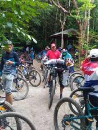 Launching Forest Bike, Ratusan Peserta Bersepeda Telusuri Kawasan TNTN