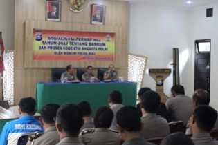 Tim Bidkum Polda Riau Sosialisasi Perkap No 2 Tahun 2017 di Polres Pelalawan
