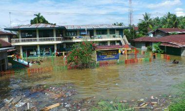 Masih Diguyur Hujan Lebat, Warga Kampar Khawatir Banjir Susulan