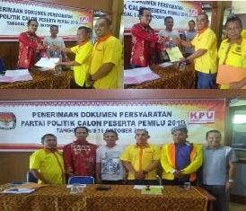 Urutan ke 3, DPD Partai Berkarya Pelalawan Daftar ke KPU Pelalawan