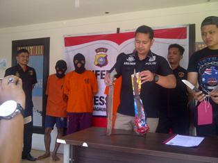 Tim Opsnal Reskrim Pelalawan Amankan Tiga Spesialis Pencuri Ternak.