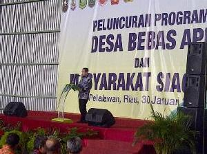 RAPP President Director Tony Wenas saat berikan sambutan